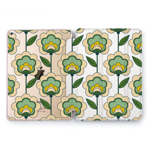 Lex Altern Green Flowers Case for your Apple tablet.