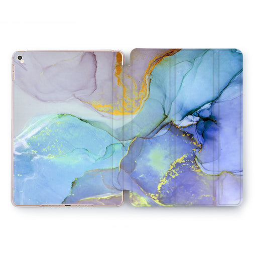 Lex Altern Blue Stones Case for your Apple tablet.