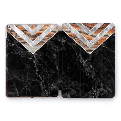Lex Altern Black Triangles Case for your Apple tablet.