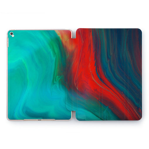 Lex Altern Burning Aquamarine Case for your Apple tablet.