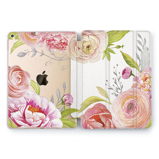 Lex Altern Watercolor Roses Case for your Apple tablet.