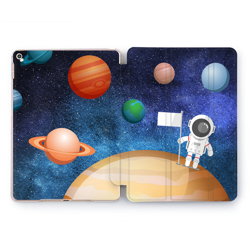 Lex Altern Astronaut Flag Case for your Apple tablet.