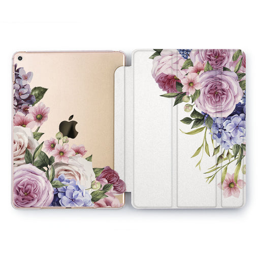 Lex Altern Purple Roses Case for your Apple tablet.