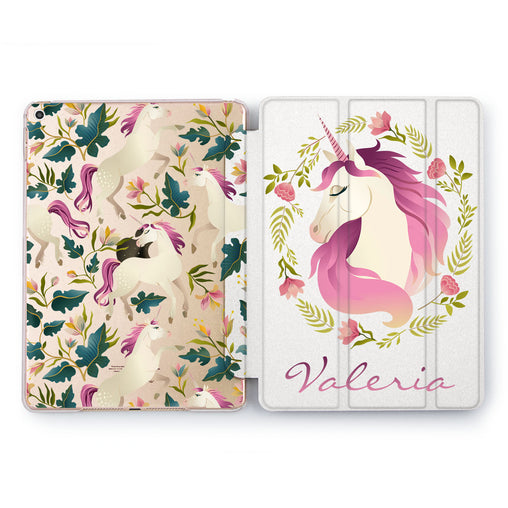 Lex Altern Unicorn Flowers Case for your Apple tablet.