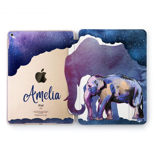 Lex Altern Night Elephants Case for your Apple tablet.