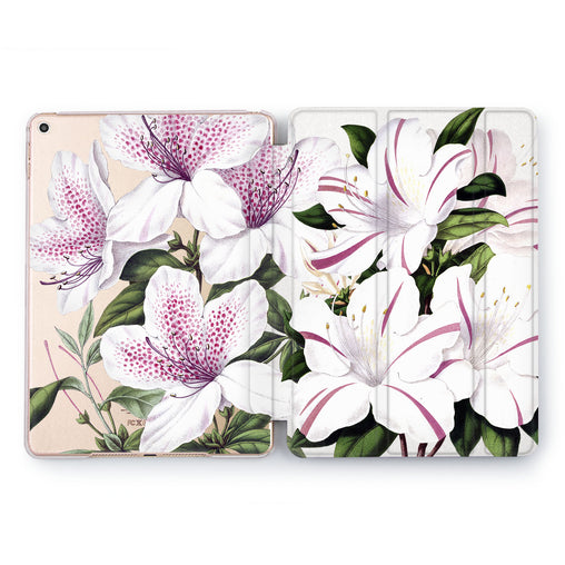 Lex Altern Purple Lily Case for your Apple tablet.