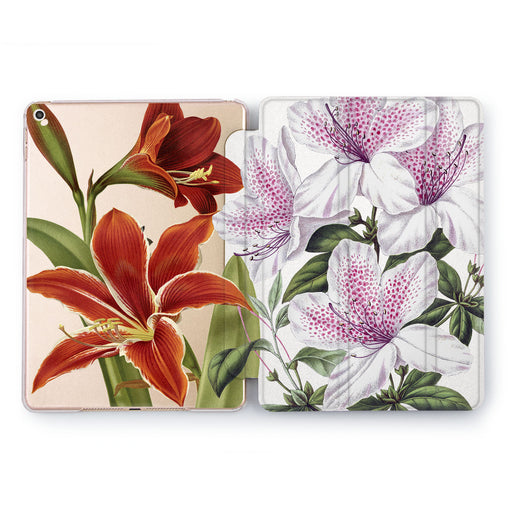 Lex Altern Red Lily Case for your Apple tablet.