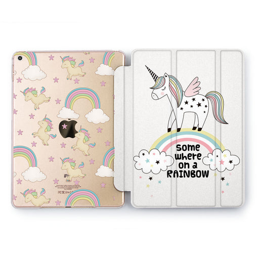 Lex Altern Unicorn On Rainbow Case for your Apple tablet.