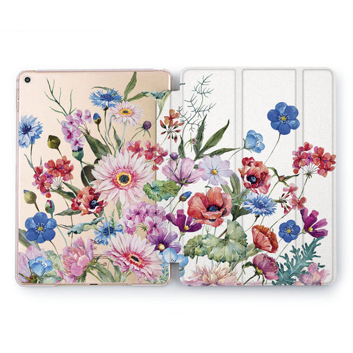 Lex Altern Colorful Wildflowers Case for your Apple tablet.