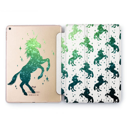 Lex Altern Emerald Unicorn Case for your Apple tablet.