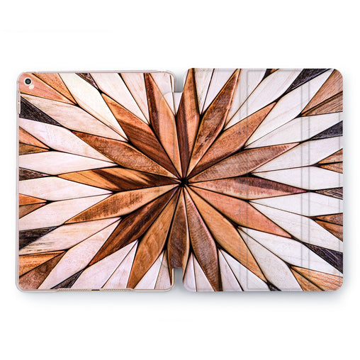 Lex Altern Wooden Flower Case for your Apple tablet.