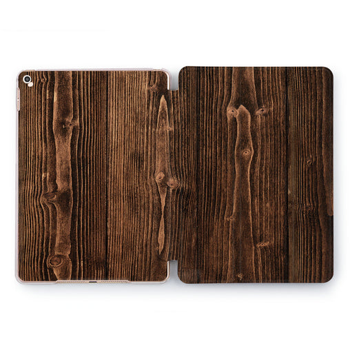 Lex Altern Brown Plank Case for your Apple tablet.