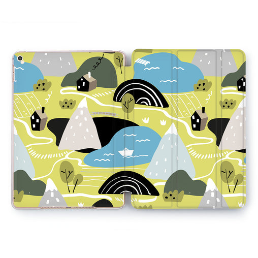 Lex Altern Drawn Town Case for your Apple tablet.