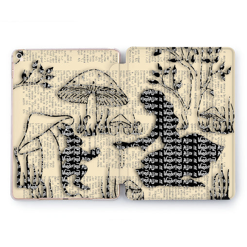 Lex Altern Wonderland Newspaper iPad Case for your Apple tablet.