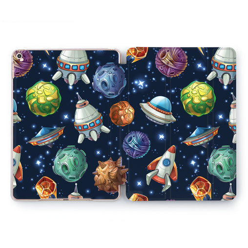 Lex Altern Drawn Planets Case for your Apple tablet.