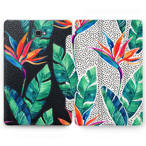 Lex Altern Strelitzia Print Case for your Samsung Galaxy tablet.