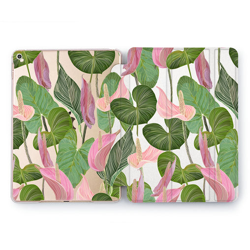 Lex Altern Anthurium Greenery Case for your Apple tablet.