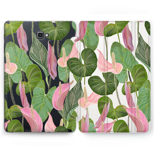 Lex Altern Anthurium Greenery Case for your Samsung Galaxy tablet.
