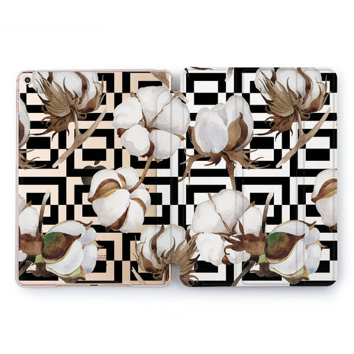 Lex Altern Geometric Flowers Case for your Apple tablet.
