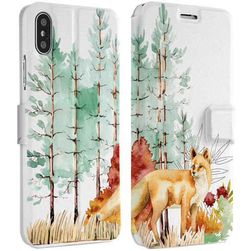 Lex Altern Woodlands Fox iPhone Wallet Case for your Apple phone.