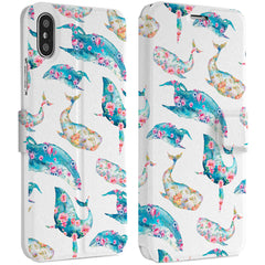 Lex Altern Floral Whale iPhone Wallet Case for your Apple phone.