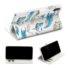 Lex Altern iPhone Wallet Case Floral Whale