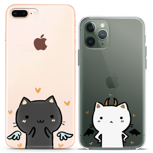 Lex Altern TPU Silicone Couple Case Angel and Devil