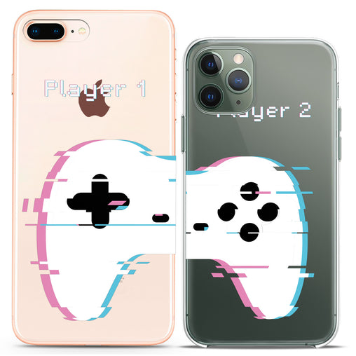 Lex Altern TPU Silicone Couple Case Abstract Gamepad