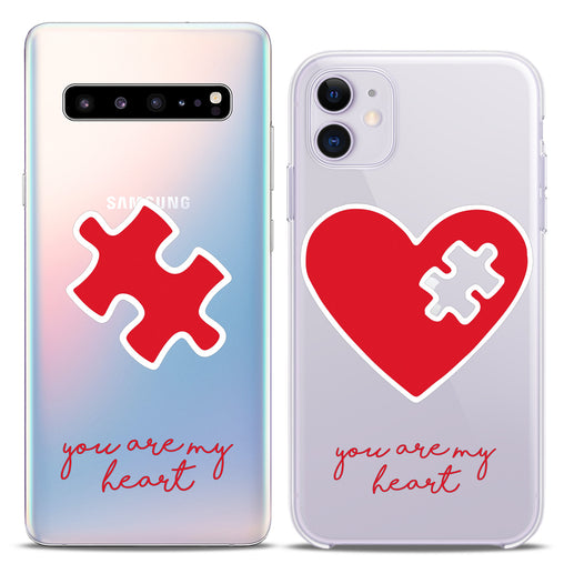 Lex Altern TPU Silicone Couple Case Heart Puzzle