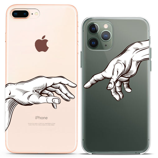 Lex Altern TPU Silicone Couple Case Michelangelo Hands