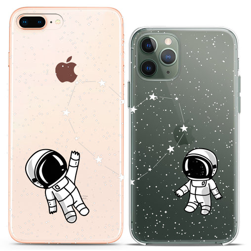 Lex Altern TPU Silicone Couple Case Astronaut Love