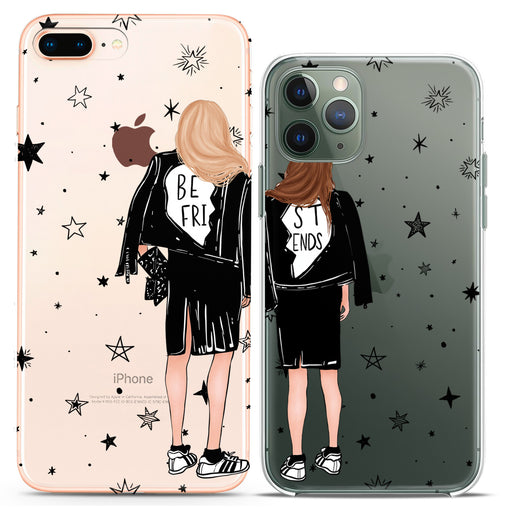 Lex Altern TPU Silicone Couple Case Best Friends