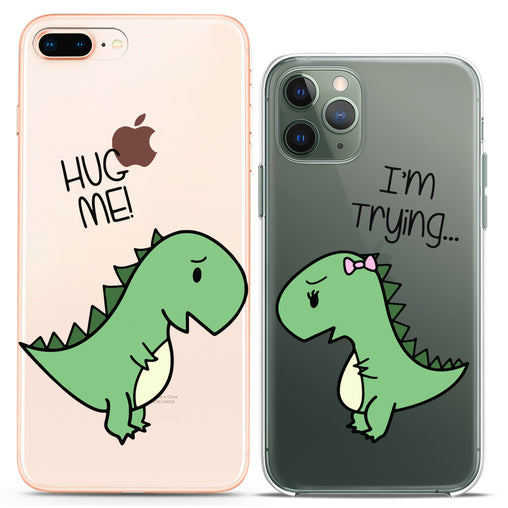 Lex Altern TPU Silicone Couple Case Funky Dinosaurs