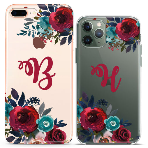Lex Altern TPU Silicone Couple Case Red Roses