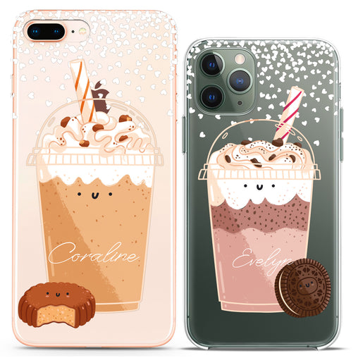 Lex Altern TPU Silicone Couple Case Cute Milkshake