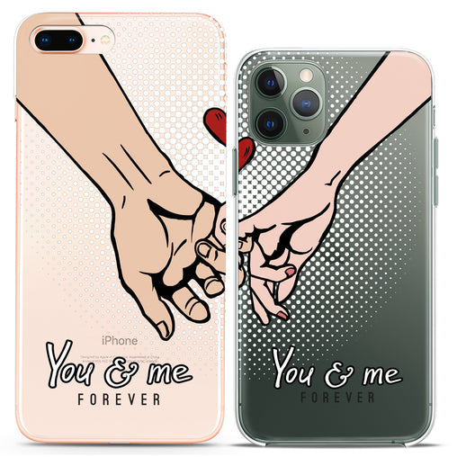 Lex Altern TPU Silicone Couple Case You & Me Forever