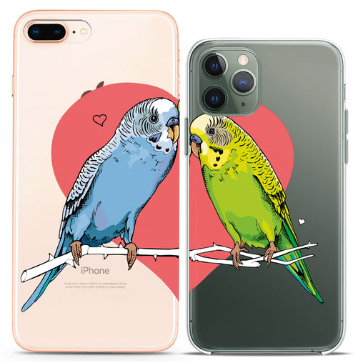 Lex Altern TPU Silicone Couple Case Lovely Parrots