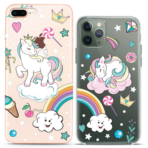 Lex Altern TPU Silicone Couple Case Magic Unicorns