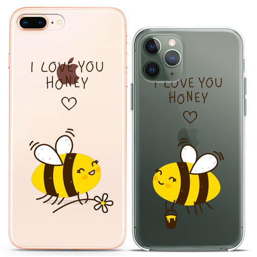 Lex Altern TPU Silicone Couple Case Bee