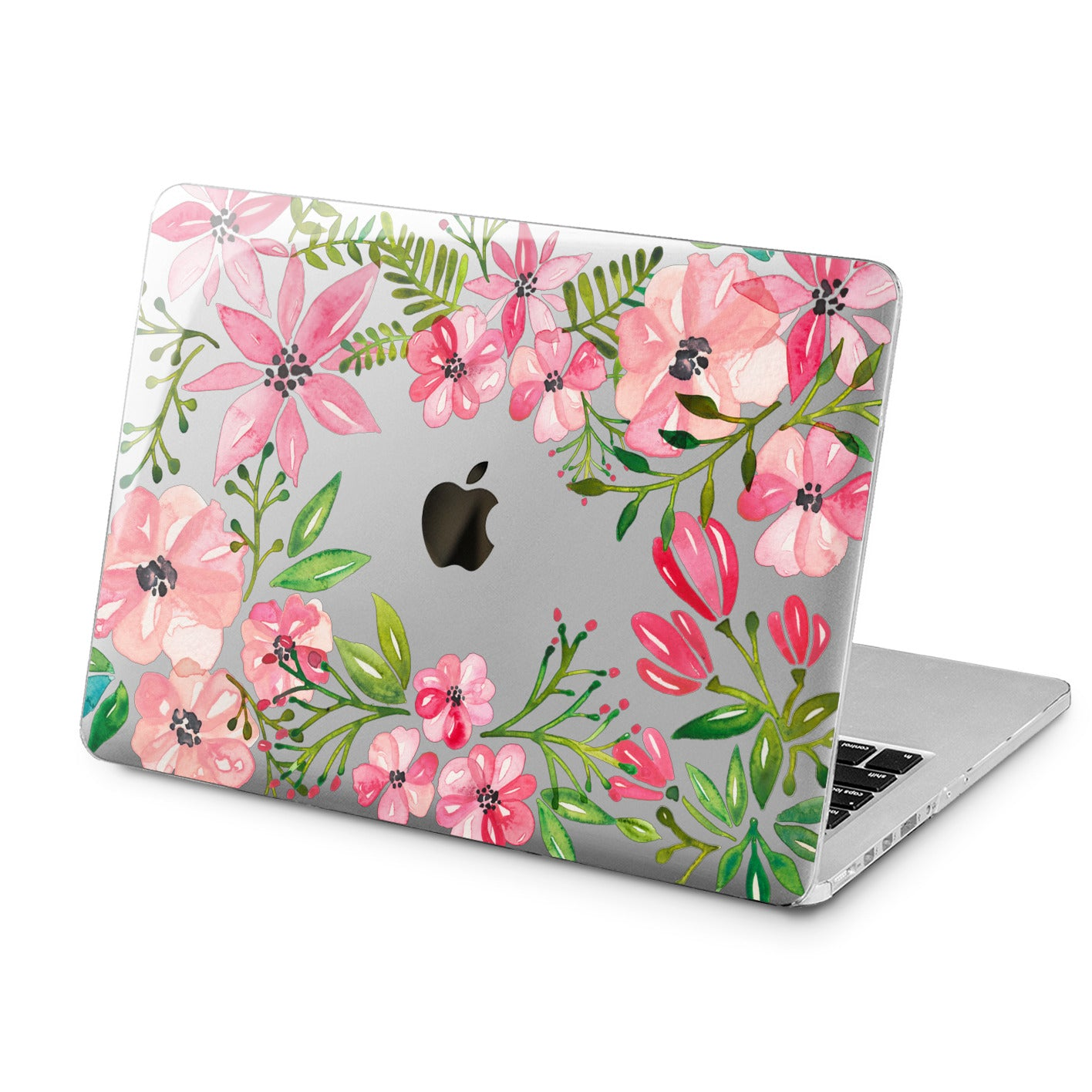 Lex Altern Lex Altern Pink Flowers Case for your Laptop Apple Macbook.