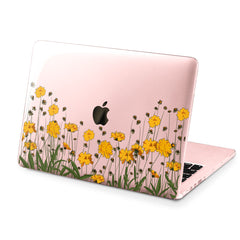 Lex Altern Hard Plastic MacBook Case Yellow Flowers