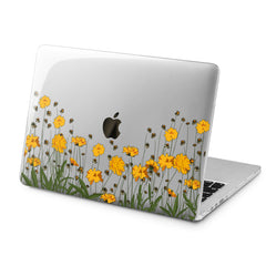 Lex Altern Lex Altern Yellow Flowers Case for your Laptop Apple Macbook.