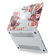 Lex Altern Hard Plastic MacBook Case Purple Roses