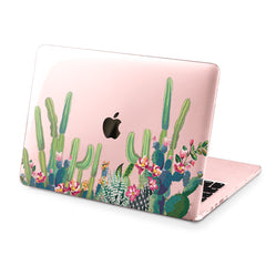 Lex Altern Hard Plastic MacBook Case Green Cactus