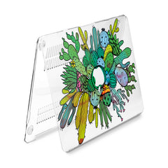 Lex Altern Hard Plastic MacBook Case Abstract Cactus
