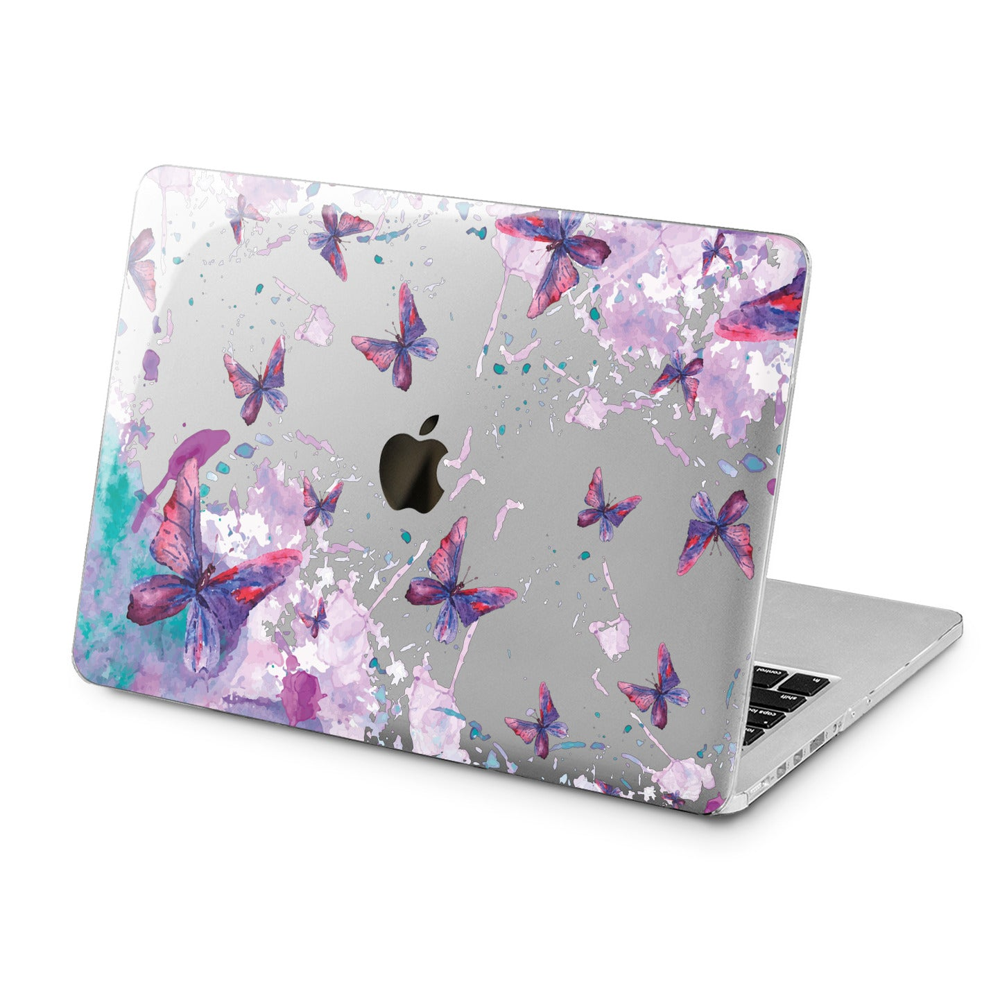 Lex Altern Lex Altern Butterfly Watercolor Case for your Laptop Apple Macbook.