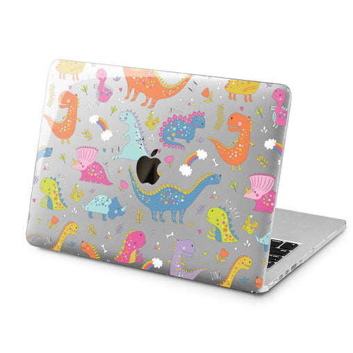 Lex Altern Lex Altern Colorful Dinosaurs Case for your Laptop Apple Macbook.