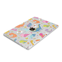 Lex Altern Hard Plastic MacBook Case Colorful Dinosaurs