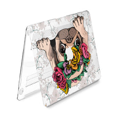 Lex Altern Hard Plastic MacBook Case Floral Pug