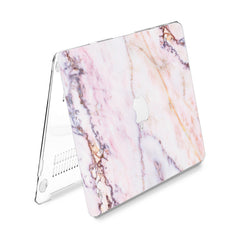 Lex Altern Hard Plastic MacBook Case Light Marble
